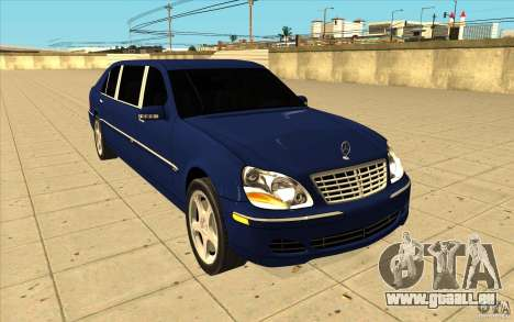 Mercedes-Benz S600 Pullman W220 für GTA San Andreas Rückansicht