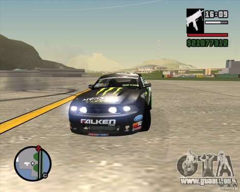 Ford Mustang GT 2010 Vaughn Gittin Jr für GTA San Andreas Innenansicht