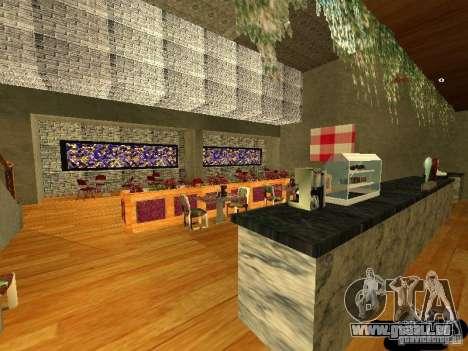 Neue innere Marco Bistro für GTA San Andreas dritten Screenshot