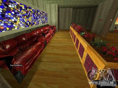 Bistro de Marco intérieur nouveau pour GTA San Andreas deuxième écran