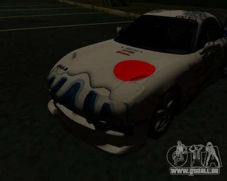 Mazda RX7 pour GTA San Andreas sur la vue arrière gauche