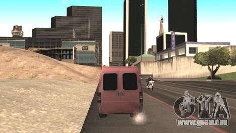 Peugeot Boxer pour GTA San Andreas vue de droite