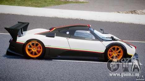 Pagani Zonda R 2009 Italian Stripes pour GTA 4 est une vue de l'intérieur