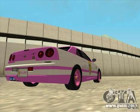 Nissan Skyline R34 Mr.SpaT pour GTA San Andreas laissé vue