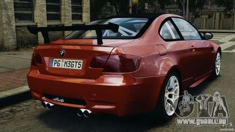 BMW M3 GTS 2010 für GTA 4 hinten links Ansicht