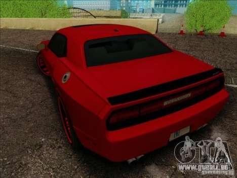 Dodge Quinton Rampage Jackson Challenger SRT8 v1 für GTA San Andreas Seitenansicht