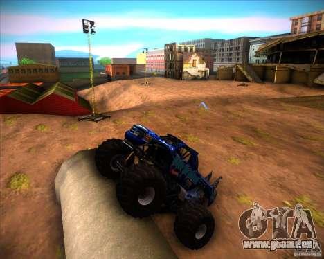 Monster Truck Blue Thunder pour GTA San Andreas laissé vue