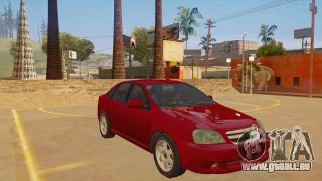 Buick Excelle pour GTA San Andreas vue arrière