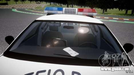 Ford Crown Victoria Karachi Traffic Police für GTA 4 Unteransicht