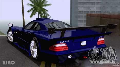 Mercedes-Benz CLK GTR Road Carbon Spoiler pour GTA San Andreas sur la vue arrière gauche