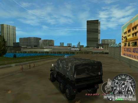 Ural 4320 Militär für GTA Vice City zurück linke Ansicht