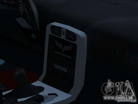 Chevrolet Corvette Stingray für GTA San Andreas Innenansicht