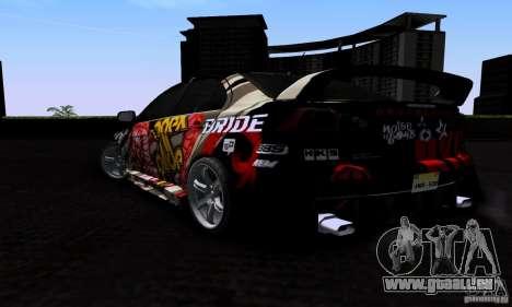 Mitsubishi Lancer Evolution X 2008 für GTA San Andreas obere Ansicht