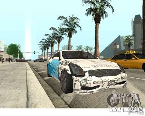 Infiniti G35 Coupe pour GTA San Andreas vue de droite