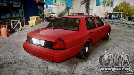 Ford Crown Victoria Detective v4.7 red lights pour GTA 4 est une vue de l'intérieur