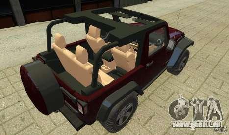 Jeep Wrangler Rubicon 2012 pour GTA 4 est une vue de l'intérieur