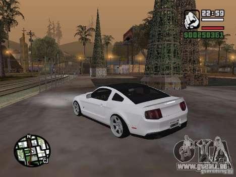 Ford Mustang GT B&W pour GTA San Andreas laissé vue