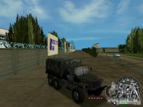 Ural 4320 militaire pour GTA Vice City vue latérale