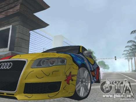 Audi RS 4 für GTA San Andreas Rückansicht