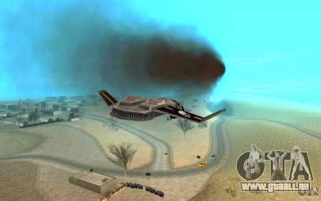 Hawk Air Command and Conquer 3 für GTA San Andreas Rückansicht