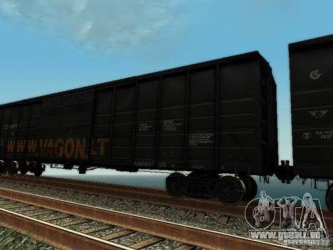 Wagon couvert pour GTA San Andreas sur la vue arrière gauche