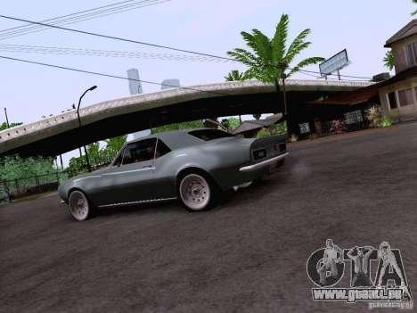 Chevrolet Camaro Z28 pour GTA San Andreas vue arrière