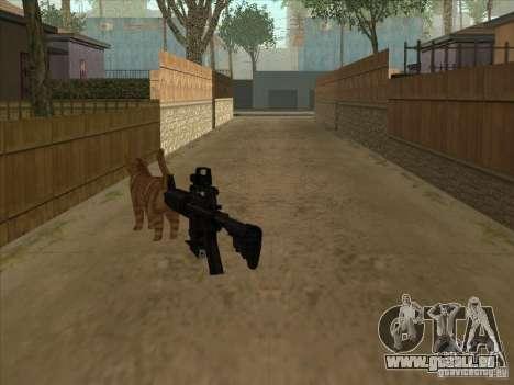 Schalldämpfer auf der M4 stattdessen Katze für GTA San Andreas zweiten Screenshot