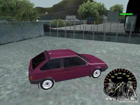 VAZ 2108 classique pour GTA San Andreas laissé vue