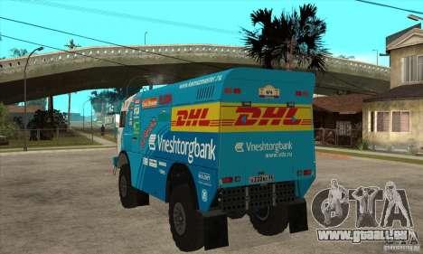 KAMAZ 4911 Rally MASTER für GTA San Andreas Rückansicht