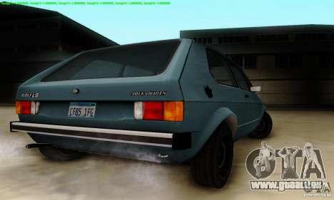 VolksWagen Golf LS pour GTA San Andreas vue arrière