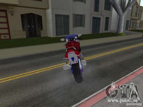 Honda CBR1100XX für GTA San Andreas zurück linke Ansicht