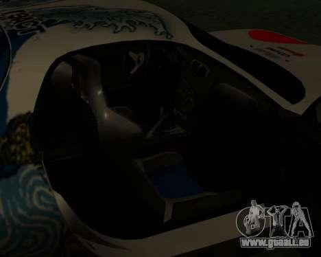 Mazda RX7 pour GTA San Andreas vue de dessus