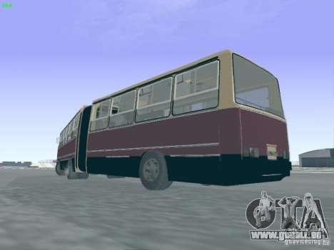 Remorque pour Ikarus 280.03 pour GTA San Andreas vue arrière