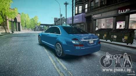 Mercedes Benz w221 s500 v1.0 sl 65 amg wheels pour GTA 4 Vue arrière de la gauche