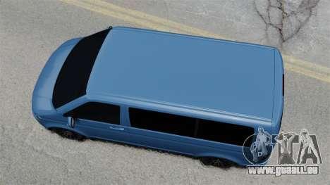 Volkswagen Transporter T5 2010 für GTA 4 rechte Ansicht