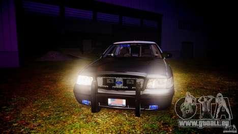 Ford Crown Victoria 2003 Florida CVPI [ELS] pour GTA 4 vue de dessus