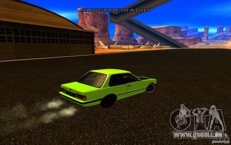 BMW E30 2.7T pour GTA San Andreas vue arrière