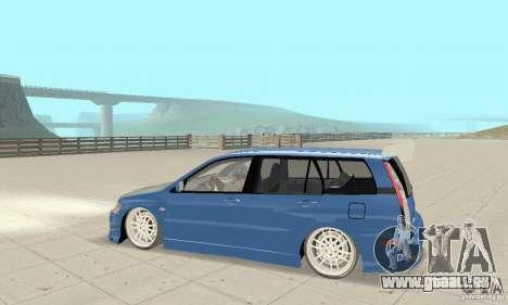 Mitsubishi Lancer Evolution IX Wagon MR Drift pour GTA San Andreas vue arrière