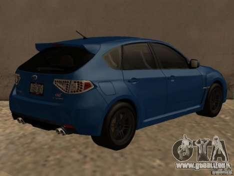 Subaru Imreza WRX für GTA San Andreas rechten Ansicht