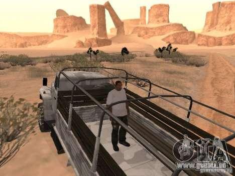 Oural-43206 hiver Camo pour GTA San Andreas vue arrière