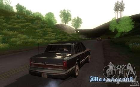Lincoln Towncar 1991 pour GTA San Andreas vue arrière