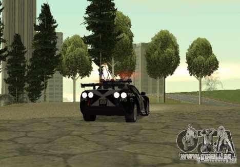 Chevrolet Cross Corvette C6 pour GTA San Andreas sur la vue arrière gauche