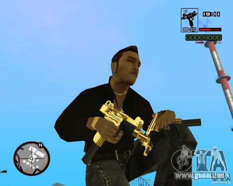 Micro Uzi Gold für GTA San Andreas