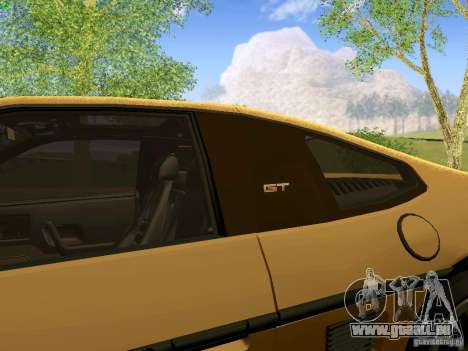 Pontiac Fiero V8 pour GTA San Andreas vue arrière