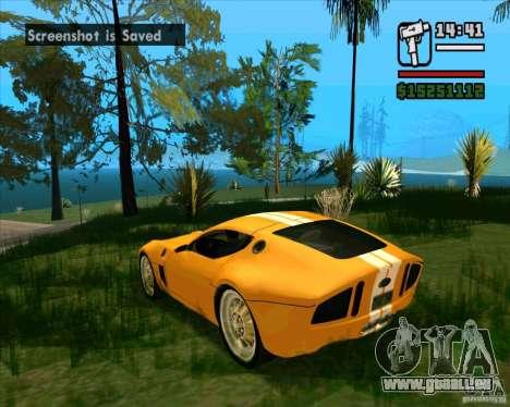 Shelby GR-1 pour GTA San Andreas sur la vue arrière gauche