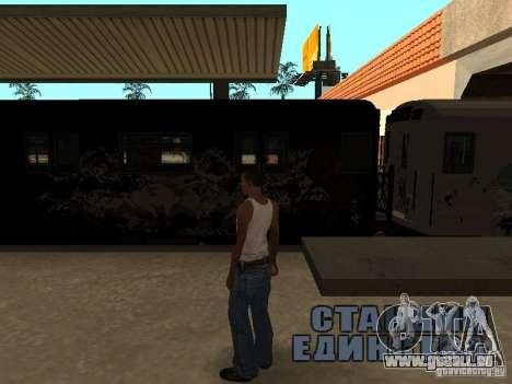 Der Zug aus GTA IV für GTA San Andreas rechten Ansicht