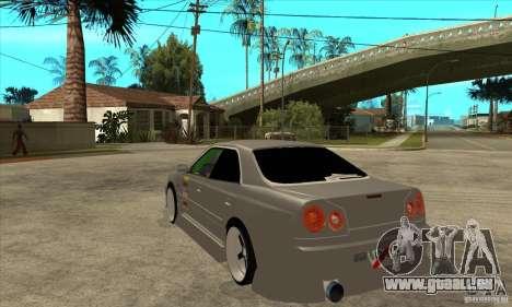 Nissan Skyline Er34 Street Drift für GTA San Andreas zurück linke Ansicht