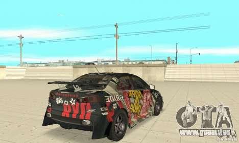 Mitsubishi Lancer EVO Ryo für GTA San Andreas zurück linke Ansicht