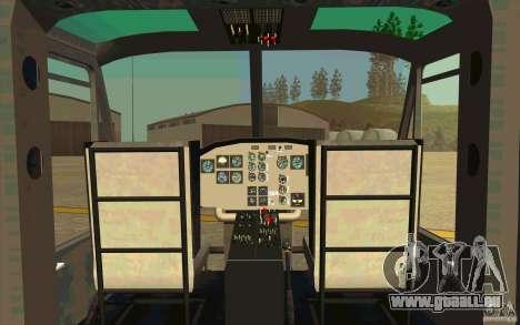 UH-1D Slick pour GTA San Andreas vue intérieure