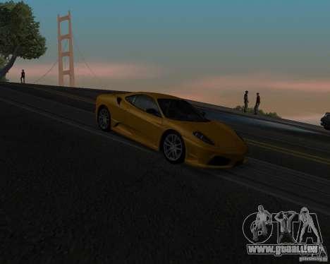 Ferrari F430 Scuderia 2007 pour GTA San Andreas vue de dessus